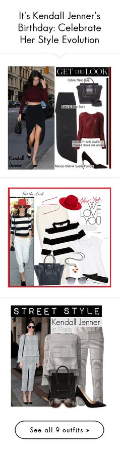 """""""It's Kendall Jenner's Birthday: Celebrate Her Style Evolution"""" by polyvore-editorial ❤ liked on Polyvore featuring kendalljenner, happybirthday, CÉLINE, Elizabeth and James, Manolo Blahnik, Theory, Athleta, Orage, Kenneth Cole Reaction and Janessa Leone"""