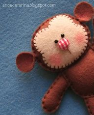 felt animals with fun button noses