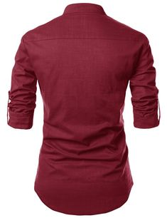 Slim Fit Summerweight Slit Linen Shirt Cotton Henley Neckline Roll-up Sleeve Machine Washable Imported Measurements (cm/in) Size Shoulder Chest Sleeve Total Length XS 44 98 64 74 S 46 104 65 76 M 48 110 66 78 Indian Men Fashion, Mens Fashion, Roll Up Sleeves, Henley Shirts, Mens Clothing Styles, Men's Clothing, Daily Look, Men Looks, Shirt Style