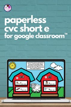 How about some NO PREP paperless digital CVC Words fun? This CVC short E Google Slides™ product is compatible with Google Clsassroom™. All you do is download, assign, Teaching Phonics, Phonics Activities, Kindergarten Activities, Short E Words, Word Family Activities, Blending Sounds, First Grade Phonics, Hidden Words, Word Sorts