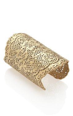 Vintage Lace Cuff in Gold by Aurelie Bidermann