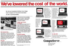 CompuServe, the first major commercial online service in the United States.