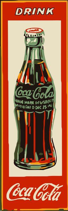 Coca Cola Pop Art |  #design #art #vintage #coke