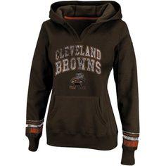 Cleveland Browns Ladies Preseason Favorite II Pullover Hoodie - Brown**