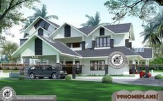 Home Design in Indian Style & Latest Two Storey House Design Plans Plan Duplex, Duplex House Plans, Modern House Plans, Small House Plans, House Floor Plans, Indian Home Design, Kerala House Design, Duplex House Design, House Design Photos