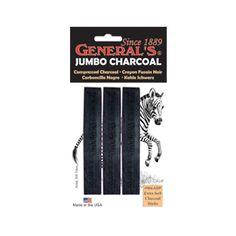 General's Jumbo Compressed Charcoal Pack - Shop Online - Art & Craft | Art Supplies | Craft Supplies | Kid's Craft & Art | Craft Projects | Art Materials | School Art Supplies