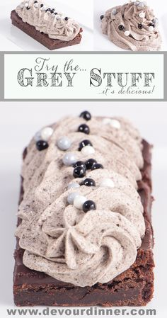 Grey Stuff Copycat Recipe Be Our Guest - Devour Dinner. Disney World Be Our Guest Restaurant Copycat Recipe The Grey Stuff. It's delicious, don't believe me? Ask the Dishes! Disney Desserts, Köstliche Desserts, Delicious Desserts, Dessert Recipes, Disney Recipes, Copycat Recipes Desserts, Cookie Recipes, Recipies, Disney Themed Food