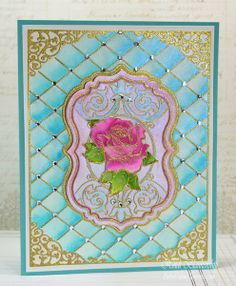 Rose Vintage Labels Seven Cling Stamps - JustRite Papercraft Day Two January CHA New Release