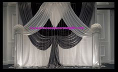 Black, Silver & White Backdrop - Wedding Ceremony Decor by Princess Decor & Gifts 416-898-7061, via Flickr
