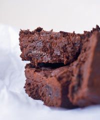 Nigel Slater's prune and Armagnac brownies - substitute dairy-free spread for butter
