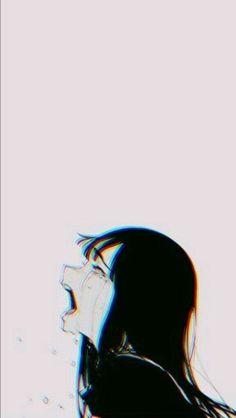 Alone Sad Anime Girl Wallpaper Iphone Anime Triste, Art Triste, Anime Girl Crying, Sad Anime Girl, Anime Art Girl, Anime Girls, Boy Crying, Dark Anime, Art Anime Fille