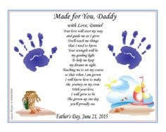 Items Similar To Digital You Print Take My Hand Daddy Poem 8 X Personalize With Baby Child Handprints New Father S Day Christmas Gift Brown On