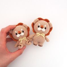 Crochet Doll Amigurumi Pattern Lion GGoMa series toy