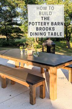 Outdoor Tables, Outdoor Dining, Outdoor Decor, Outdoor Farmhouse Table, Diy Patio Tables, Outdoor Table Plans, Farmhouse Table Plans, Diy Outdoor Furniture, Diy Furniture