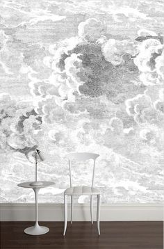 fornasetti wallpaper - 'Nuvole' (black and white). £268 for 270x265 panel at Cole & Son