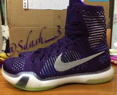 #Nike Kobe 10 high purple #sneakers