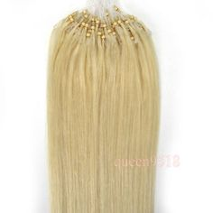 """New 100s 18""""Remy Human Hair Extensions Easy Loop Micro Rings Beads Tipped 1g/s"""
