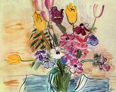 Raoul Dufy. Anémones et Tulipes