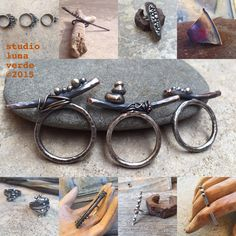 some of my favorite pieces from 2015 - for the hand, all metal - by Studio Luna Verde