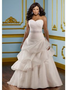 Perfect A Line Sweetheart Chapel Organza Wedding Dress with Bowknot