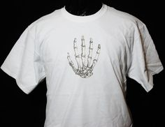Tshirt Casual Free shipping  THE HUMAN HAND White by Zedezign, $22.00