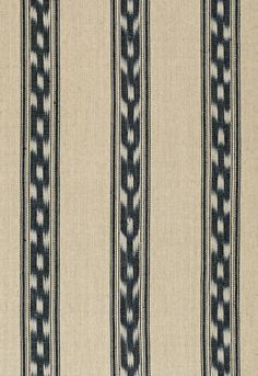 Mojave Ikat Stripe Ebony Fabric by Schumacher Pattern# 67510 Buy this product plus Samples always available online. Quality direct from manufacturer. Family owned since 1971 Velvet Upholstery Fabric, Ikat Fabric, Drapery Fabric, Chinoiserie Motifs, Fabric Birds, Schumacher, Striped Fabrics, Fabric Wallpaper, Weaving Techniques