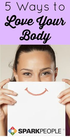 You don't have to lose weight or tone up or drop a dress size to love your shape. Here's how to practice positive body love starting today! | via @SparkPeople #bodyimage #beauty