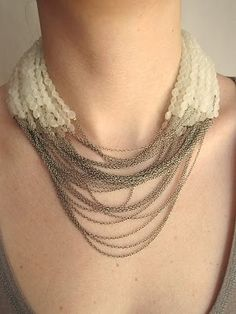 Jean- Francois Mimillia FROST AND CHAIN NECKLACE