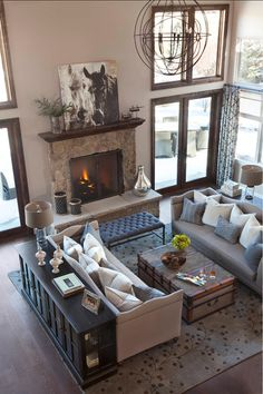 Ashley Campbell Interior Design – Home Decor For Life – Home Decor Furniture Layout. Ashley Campbell Interior Design – Home Decor For Life Cozy Living Spaces, My Living Room, Home And Living, Modern Living, Luxury Living, Small Living, Living Area, Large Living Rooms, Living Room Decor Blue