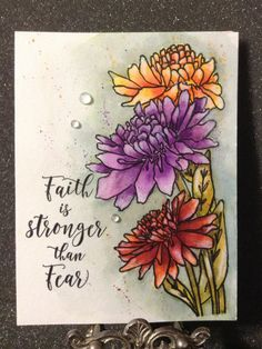 Chrysanthemum Trio by JustCallMeNana - Cards and Paper Crafts at Splitcoaststampers Penny Black Cards, Penny Black Stamps, Watercolor Projects, Watercolor Cards, Watercolor Ideas, Art Cafe, Artist Card, Card Sayings, Card Patterns