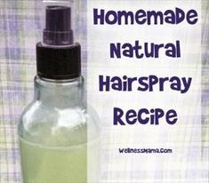 Hairspray Recipe DIY homemade natural hair spray recipe - chemical-free and works really well .DIY homemade natural hair spray recipe - chemical-free and works really well . Homemade Hair Spray, Homemade Skin Care, Homemade Beauty Products, Diy Hair Spray, Natural Products, Diy Hair Products, Body Products, Natural Hair Care, Natural Hair Styles