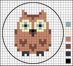 Could use a cross stitch pattern for a granny square pattern.    LucyKate Crafts...: Owl,