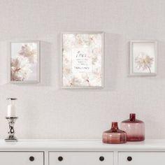 Obraz Pivónie III 18x24cm silver    #obraz#kvety#pivonie#jedalen#obyvacka#kuchyna#detskaizba Floating Shelves, Peonies, Gallery, Flowers, Silver, Pastels, Paintings, Decoration, Home Decor