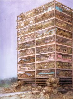 Highrise of Homes by SITE (Sculpture in the Environment) and James Wines, 1981