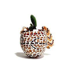 mochila arhuaca mosaico glass mosaic  art arte  telar de cuentas o mostacillas