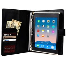 """Cooper FolderTab Executive Leather Portfolio Case with Notepad for all Apple iPads & 7-10"""" Tablets - 1"""