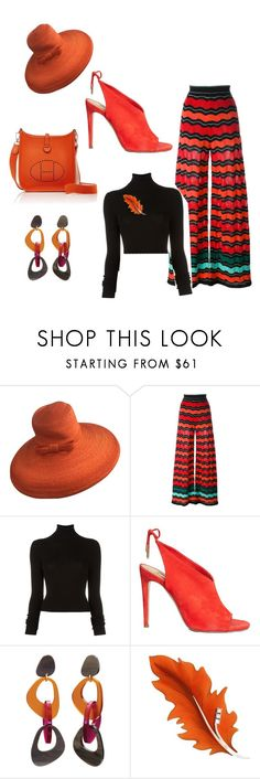 """Pop of Brunt  Orange"" by styledbytjohnson on Polyvore featuring Paul Frank, M Missoni, BLK DNM, Aquazzura, Toolally and Hermès"
