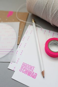 Pink, White and Craft / Designed by Go Forth Creative