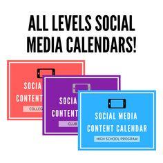 Social Media Content Calendar: All Levels Bundle!