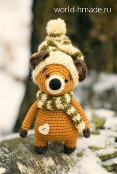 Lysyonok Lucas. We knit the toy crochet.
