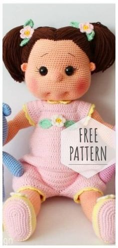 Mesmerizing Crochet an Amigurumi Rabbit Ideas. Lovely Crochet an Amigurumi Rabbit Ideas. Doll Amigurumi Free Pattern, Doll Patterns Free, Crochet Dolls Free Patterns, Amigurumi Doll, Amigurumi Tutorial, Pattern Ideas, Knitted Dolls Free, Pattern Pictures, Crochet Gratis