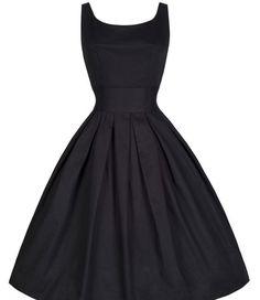 Audrey Hepburn' style retro ball gown waist swing slim dress