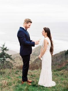 This wedding is both intimate and wildly romantic all rolled up into one. It's a west coast elopement surrounded by soaring Redwoods, perfectly edited details by A & B Creative and a bouquet that. Vows, Bouquet, Romantic, Couple Photos, Wedding Dresses, Floral, Photography, Inspiration, Wedding Things