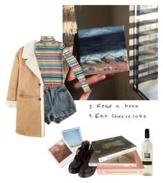 """impressionist's dream"" by dontdisd ❤ liked on Polyvore featuring Polaroid, American Apparel, Impossible Project, MANGO and Taschen"