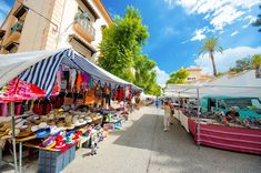 Markt in Teulada Moraira, Alicante, Spain, Street View, Sevilla Spain, Spanish