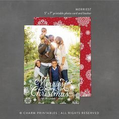 Christmas Photo Card Design Full Bleed Photo by CharmPrintables