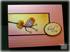 Crafting The Web: Gina K Inspiration Hop Day 1  COLOR 'REGULAR' BIRDS LIKE THIS AS WELL.  BE fun with your coloring.