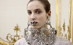 Call it the Lisbeth Salander effect: for Givenchy couture, Riccardo Tisci used models with multiple piercings, much like the goth hacker created by Stieg Larsson.