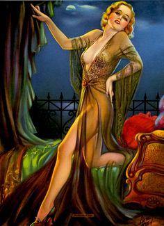 Luxurious Art - Deco Era pin up girl Art Deco Print, Art Deco Era, Pin Up Girl Vintage, Vintage Ladies, Vintage Art, Pin Up Illustration, Pin Up Photography, Thing 1, Vintage Pin Ups