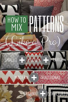 HGTV Crafternoon: How to Mix Patterns Like a Design Pro + Win a Set of Throw Pillows! HGTV Crafternoon: How to Mix Patterns Like a Design Pro + Win a Set of Throw Pillows! Deco Design, Blog Design, Home And Deco, Do It Yourself Home, Interior Design Tips, My New Room, Hgtv, Decorating Tips, Home Projects